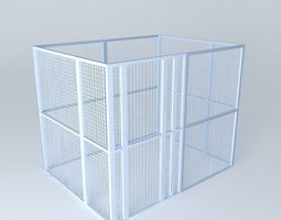 3d model wire mesh cage for data center colocation