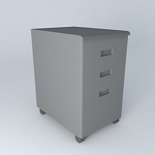 under desk cabinet 3d desk file cabinet cgtrader 27555