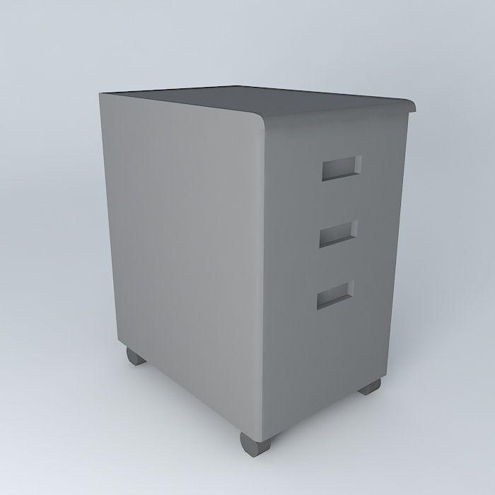 Under Desk File Cabinet 3d Model Max Obj 3ds Fbx Stl Dae 1
