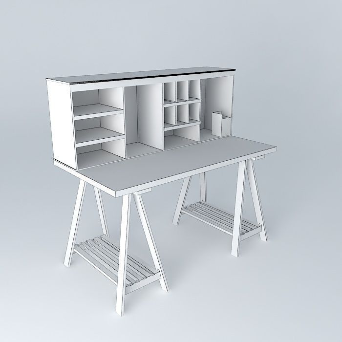 Campus White Child Desk Houses The World 3d Model Max Obj 3ds Fbx Stl Dae 4