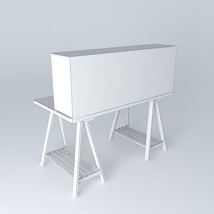 Campus White Child Desk Houses The World 3d Model Max Obj 3ds Fbx Stl Dae 5