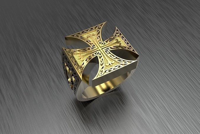 Man ring with cross