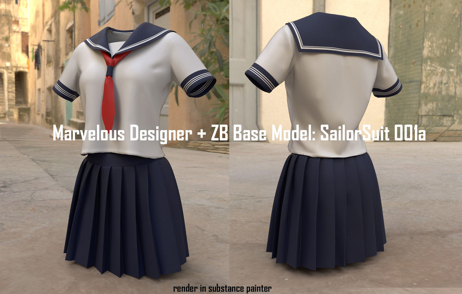 Marvelous and ZB Base Model Japan Sailor Suit F001a