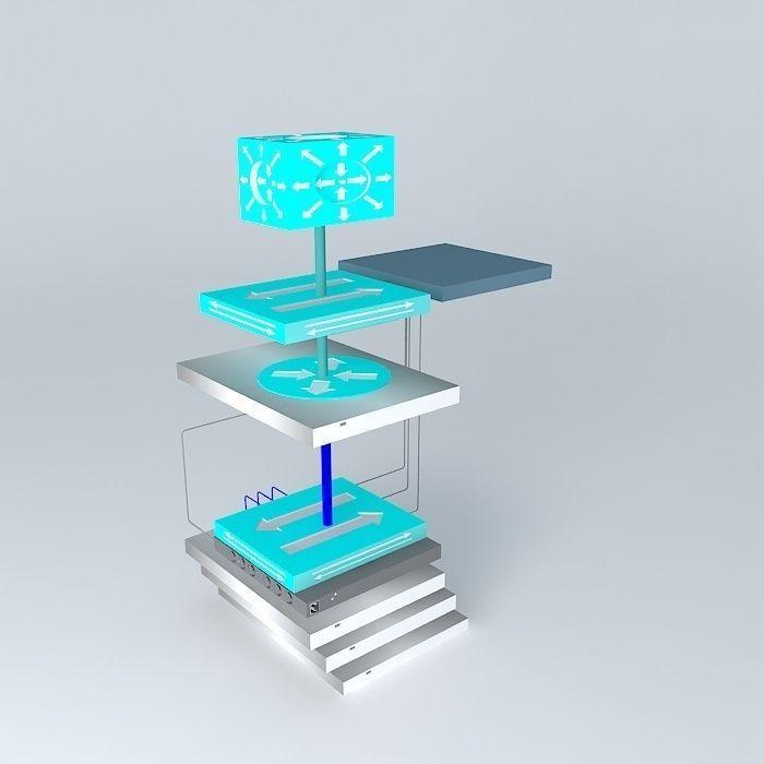 Network Diagram For Small Hosting Setup And Cloud Computing 3d Model Max Obj 3ds Fbx Stl Dae