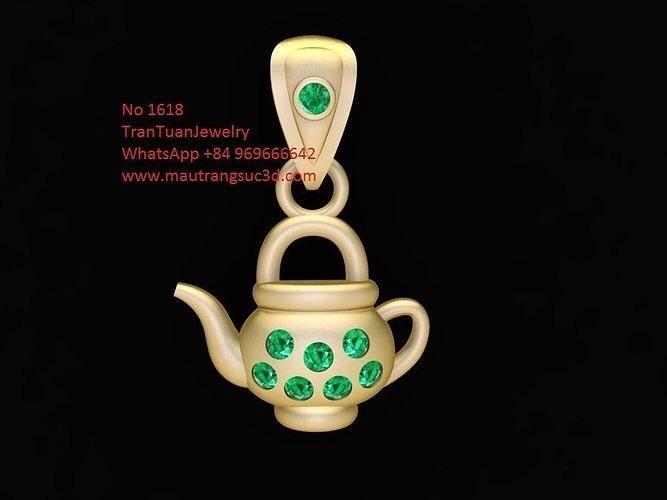1618 diamond kettle pendant  3d model stl 3dm 1