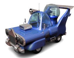 3D model funny cartoon car