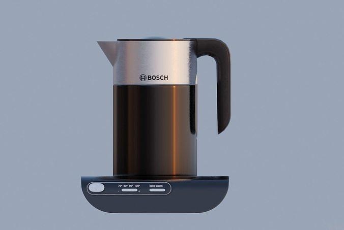 bosch electric kettle kitchen appliance 3d model obj mtl fbx stl blend dae x3d 1