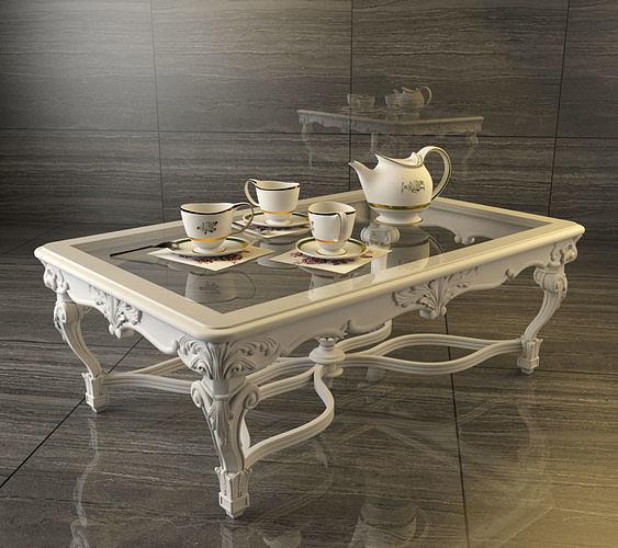 classic carving table 3d model max obj mtl fbx 1