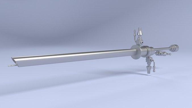 hysteroscope 3d model obj mtl fbx blend 1