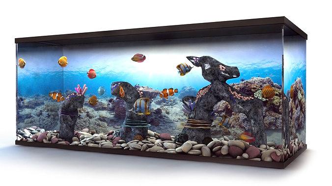3d model aquarium cgtrader for 3d fish tank