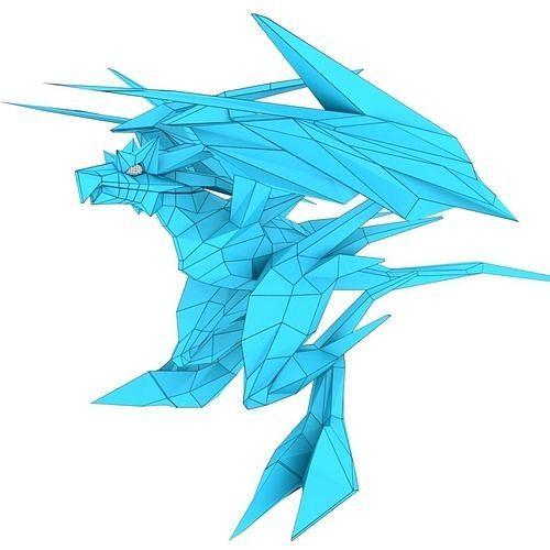 bird dragon large 3d model obj mtl 3ds fbx stl blend dae 1
