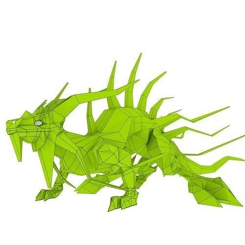 lizard dragon large 3d model obj mtl 3ds fbx stl blend dae 1