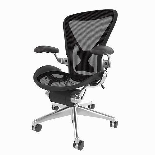 Terrific Herman Miller Aeron Office Chair 3D Model Forskolin Free Trial Chair Design Images Forskolin Free Trialorg