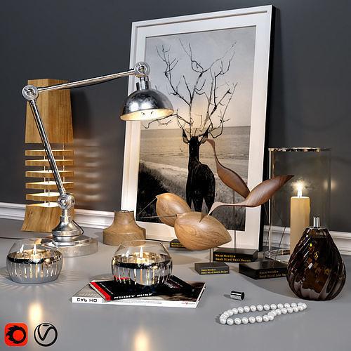 decorative set vitra model 3d model max obj mtl 1
