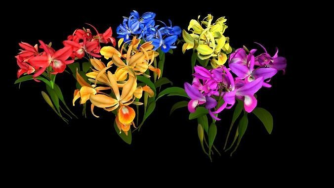 flower guarianthe 3d model obj mtl fbx unitypackage prefab 1