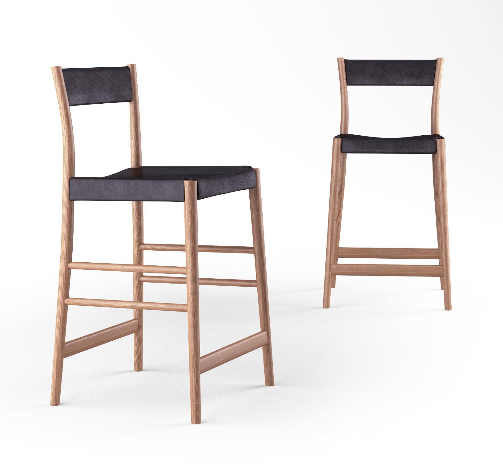 Enjoyable Pinch Avery Bar Stool Upholstered 3D Model Uwap Interior Chair Design Uwaporg