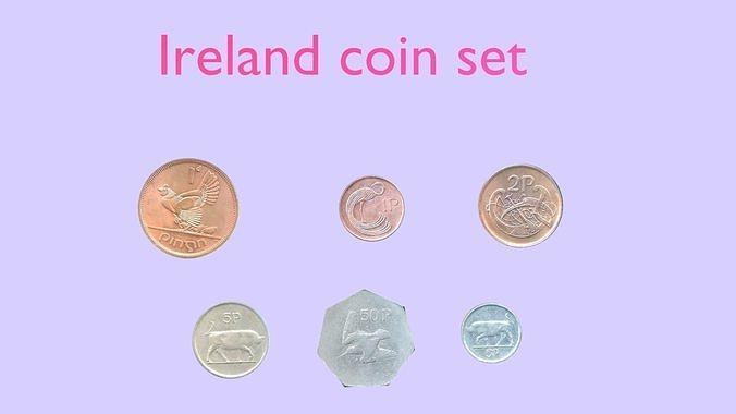 Ireland coin - set model