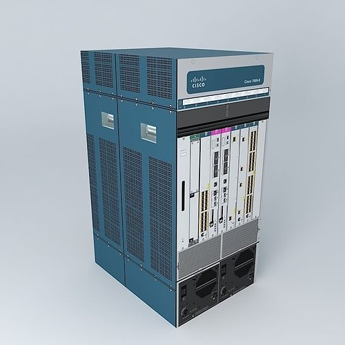 3d model cisco 7609s router cgtrader