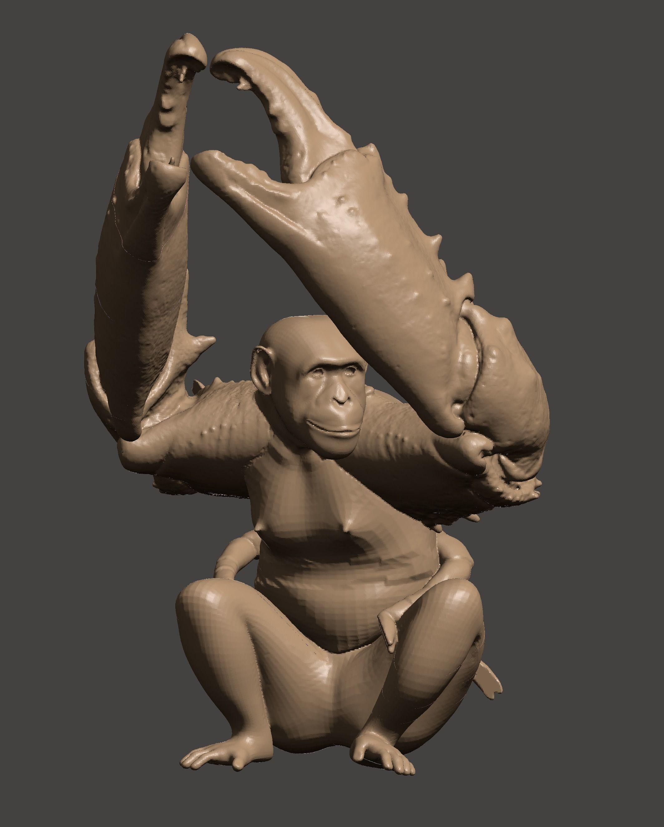3D Printable Mutant Crab Monkey
