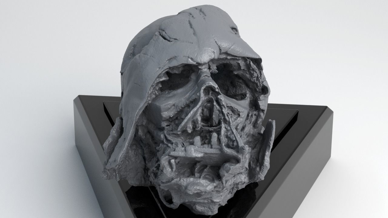 Melted Darth Vader Helmet - Star Wars Skull 3D Print model