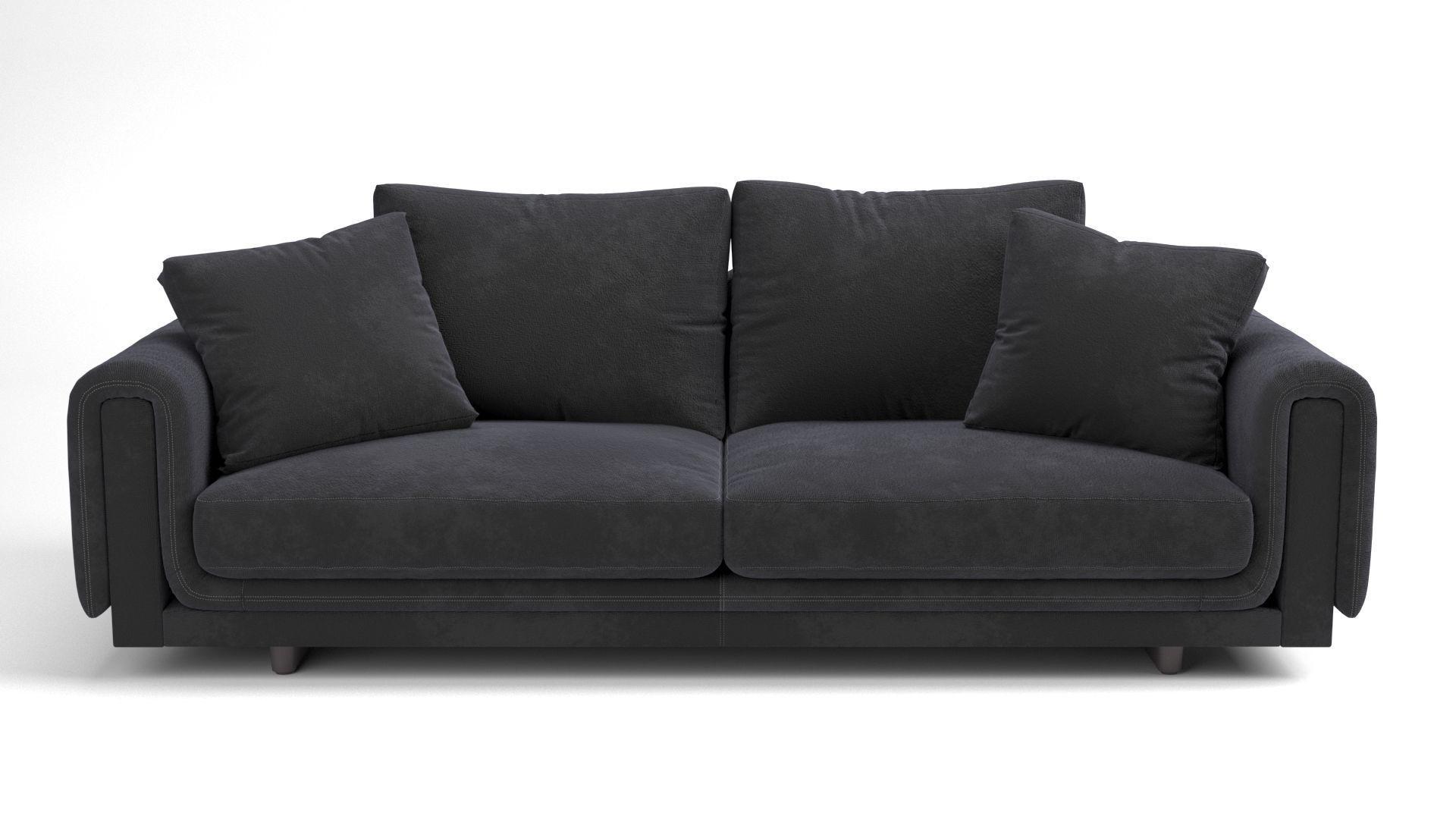 Underline 4-seat sofa 3D   CGTrader