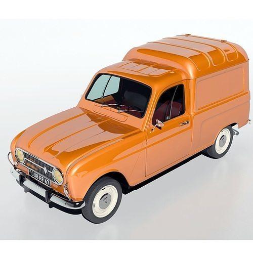 renault r4 fourgonette van 3d model  1