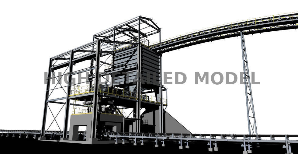 Secondary crushing mine plant for presentations and animations