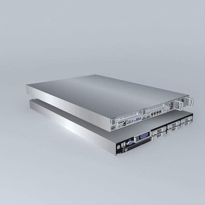 Dell PowerEdge R610 Server | 3D model