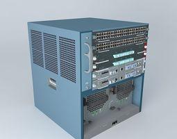 3D model Cisco Catalyst 6506-E Chassis