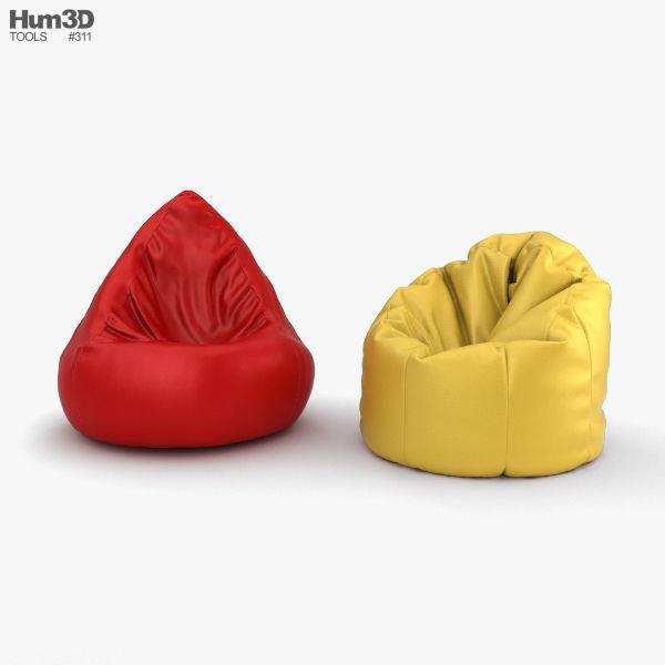 Admirable Bean Bag 3D Model Frankydiablos Diy Chair Ideas Frankydiabloscom