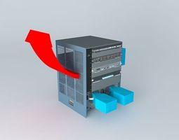 Cisco Catalyst 6509 E 3D model