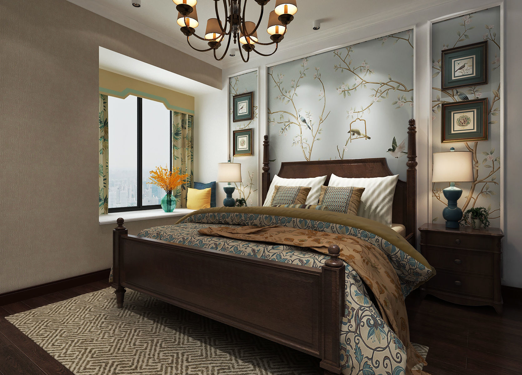 American Style Bedroom Design 3D | CGTrader on Model Bedroom Ideas  id=13994