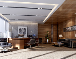 modern working room  3d