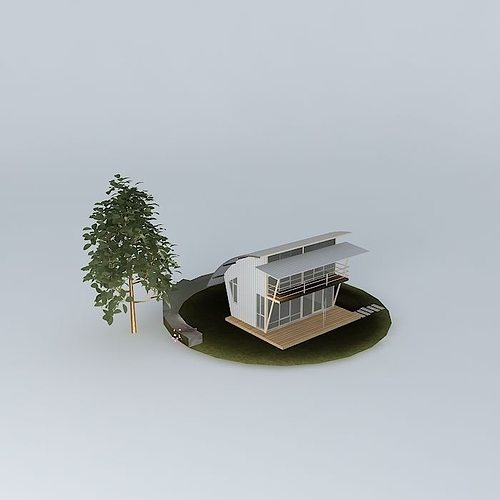 small vacation cottage 3d model max obj mtl 3ds fbx stl dae 1