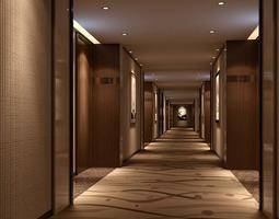 3d spacious hotel hall