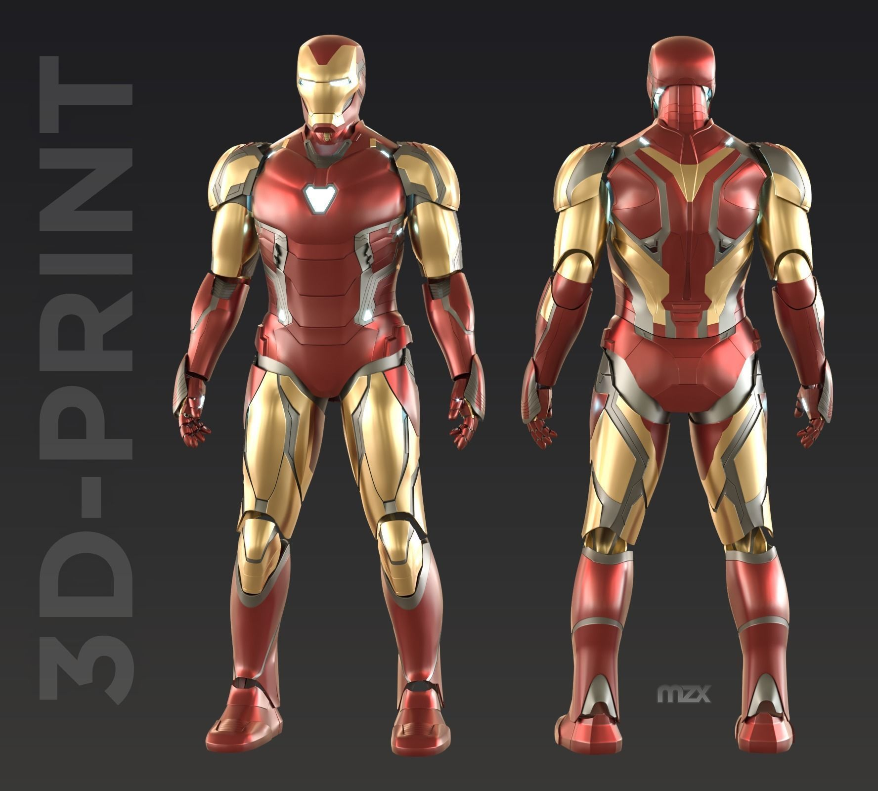 Iron Man Mark 85 wearable suit for 3D-printing DIY