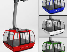 ski lift gondola cable car 3d model