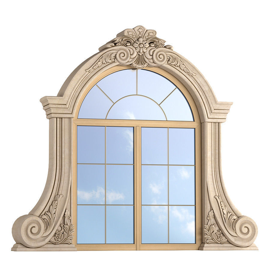 Classic Window Frame For Decorating The Facade 3d Model