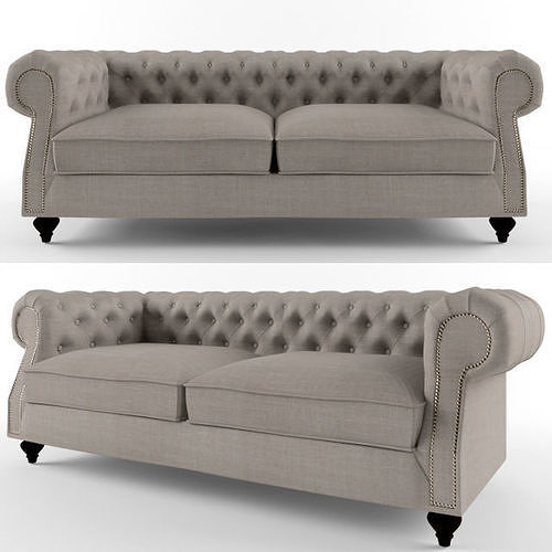 sofa   fabric     ettore     furniture 3d model max fbx 1