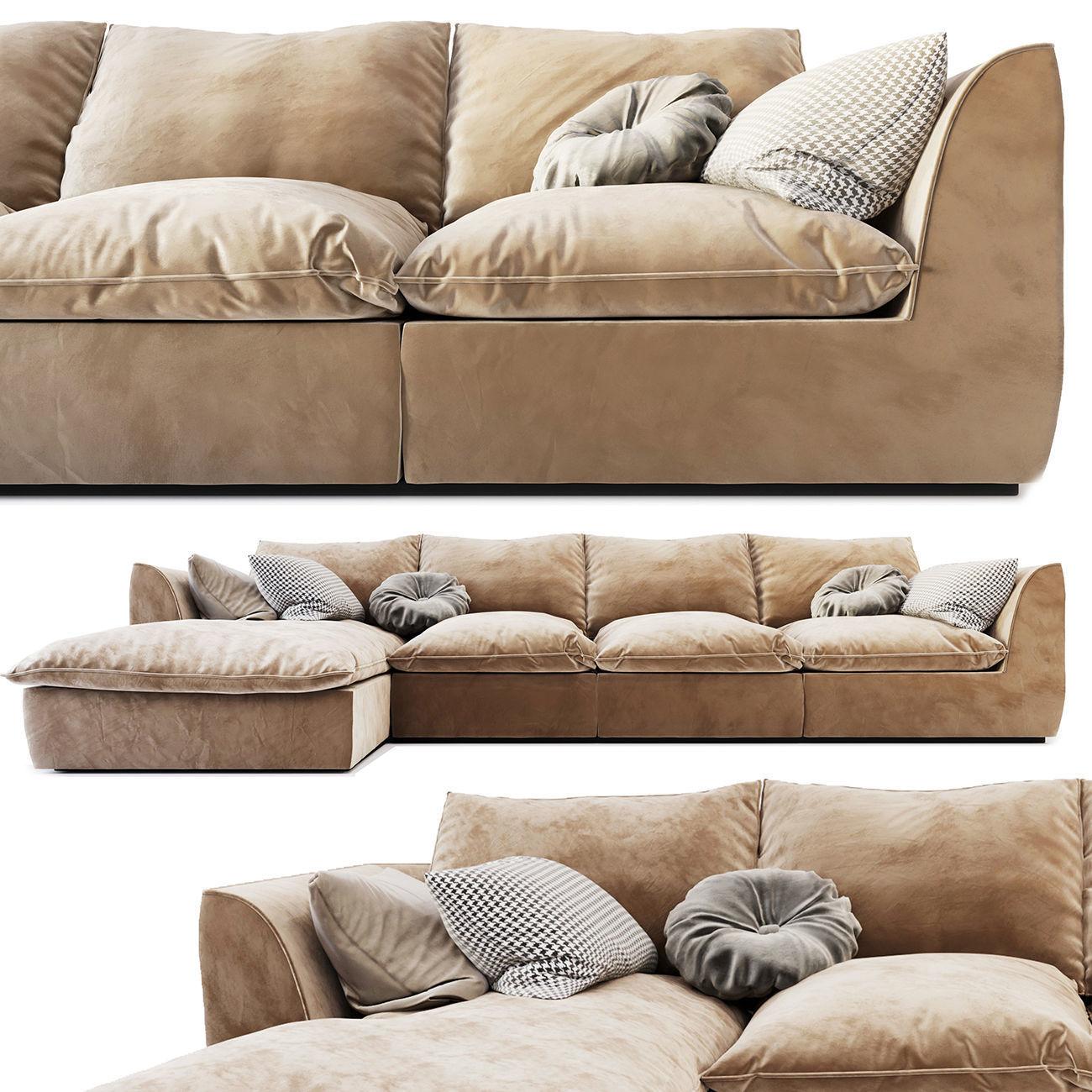 3D model Mabay Vosart Modular modern sofa 2 | CGTrader