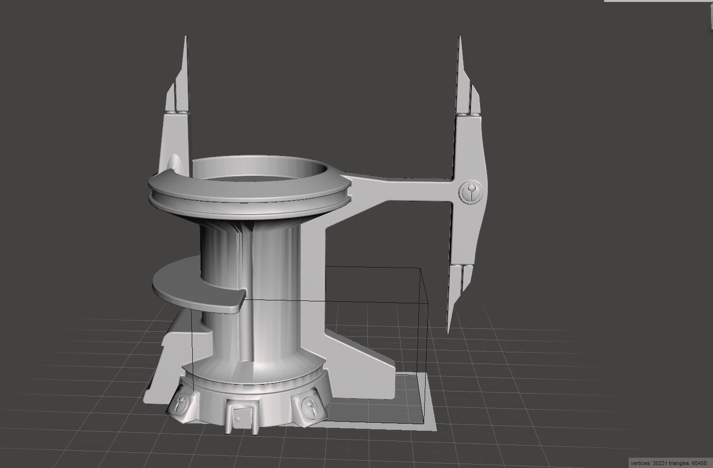 Tau Building Tower   3D Print Model