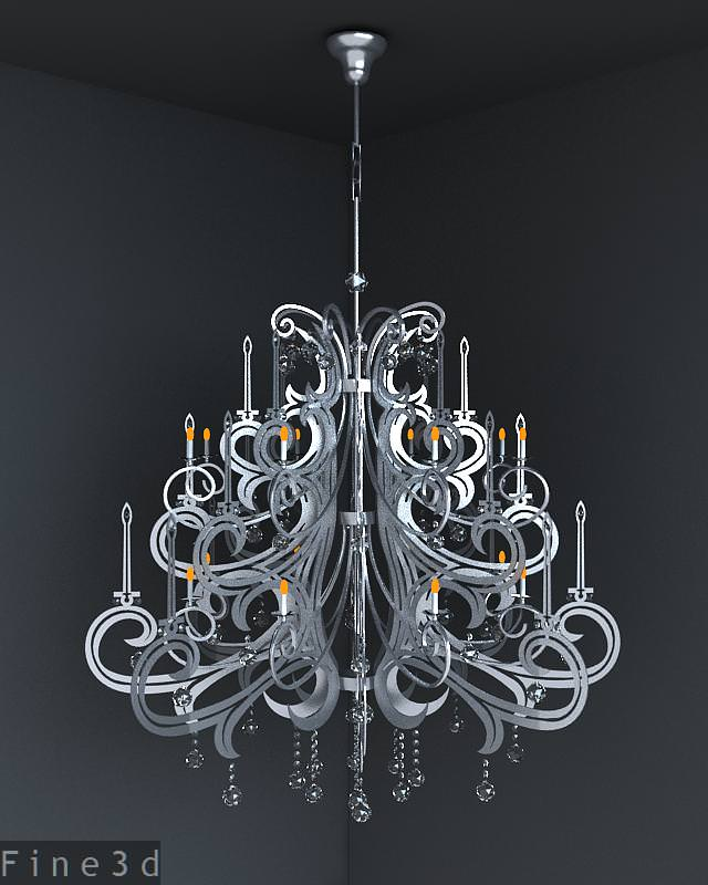 Christmas tree like chandelier 3D Model MAX OBJ 3DS RFA – Like a Chandelier