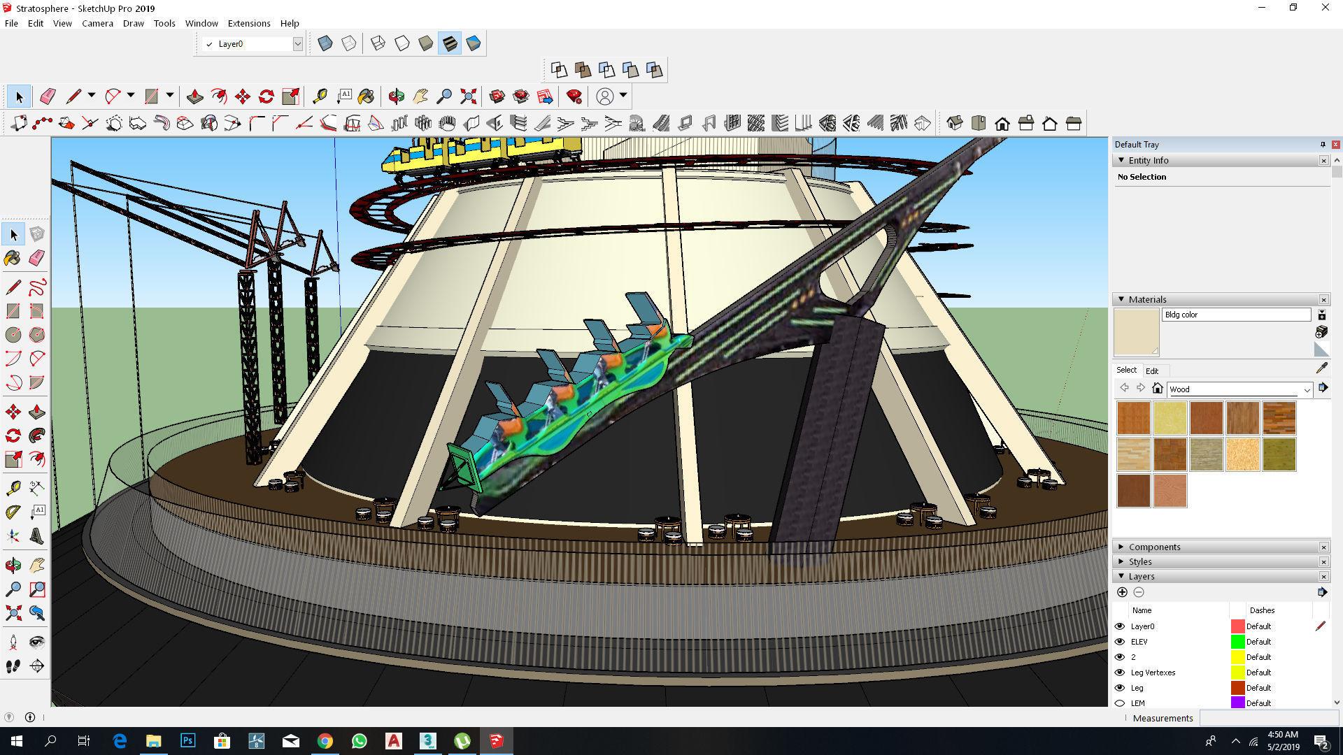 Stratosphere Casino Sketchup Model   3D model