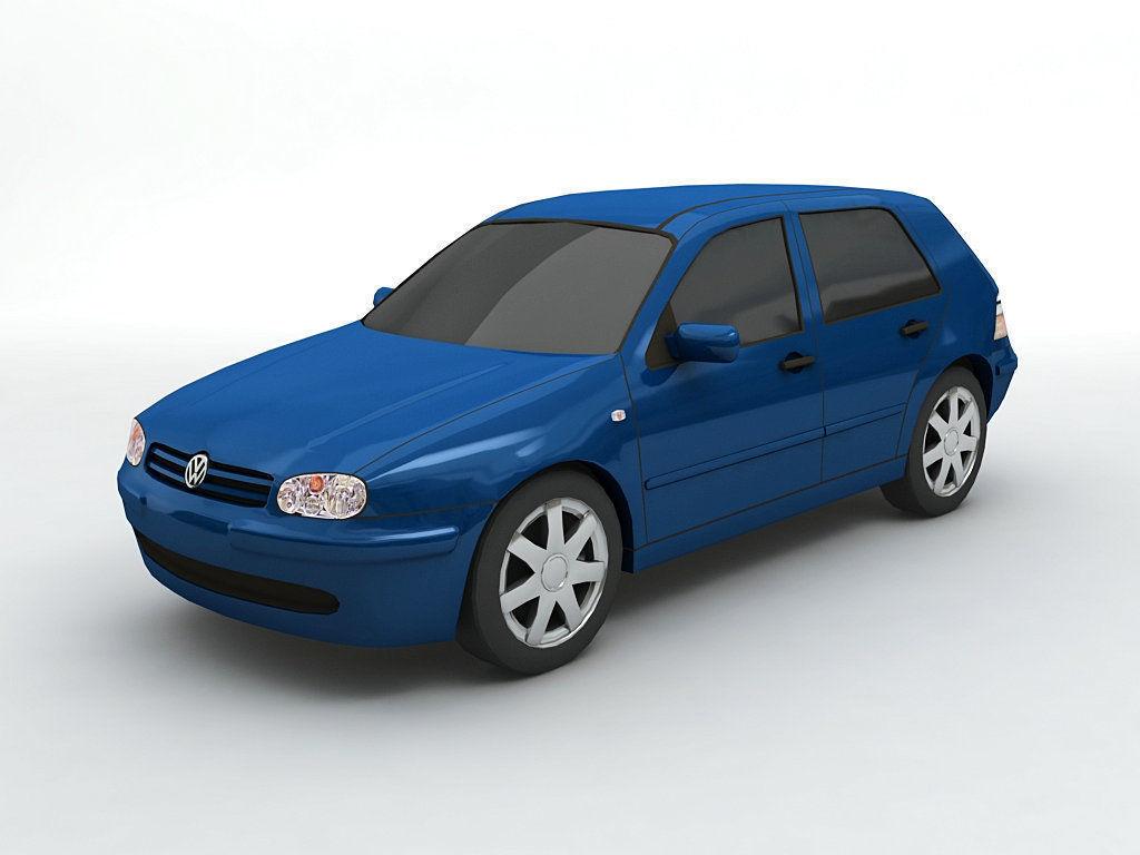 3d Model 2000 Volkswagen Golf Iv Hatchback Cgtrader