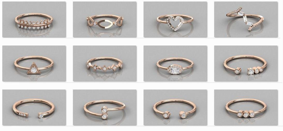 300 solitaire women ring 3dm 9 render stl detail bulk collection