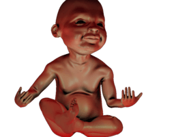 print ready baby seated 1 3d printable model