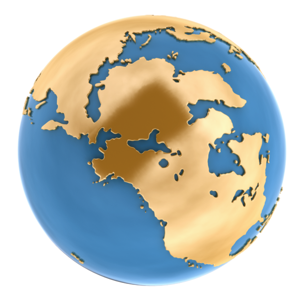 World Globe 3D Model OBJ MA MB | CGTrader.com