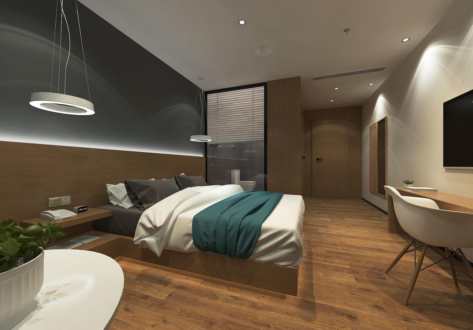 Modern Minimalist Style Hotel Room Design