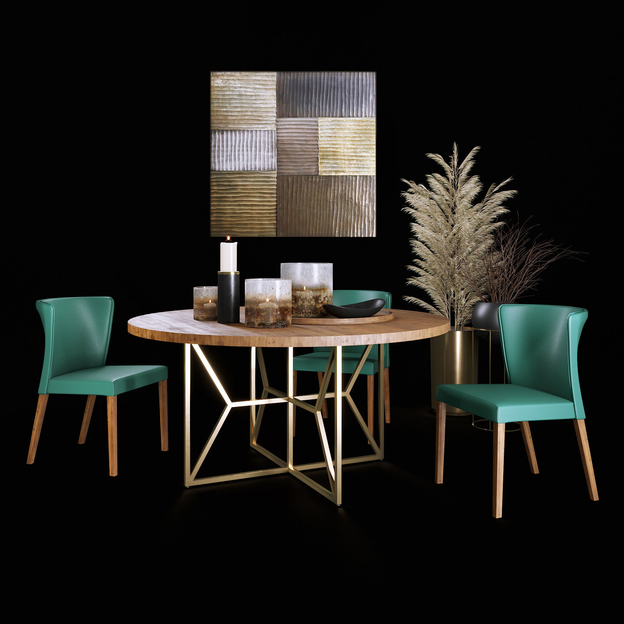 Dining Set with Decor