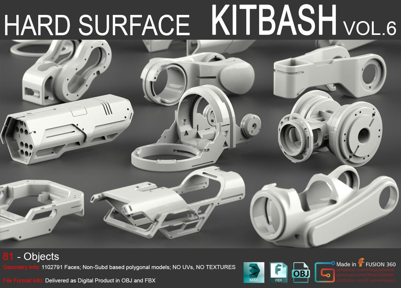 Hard Surface KitBash Vol 6